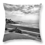 Playa Burriana, Nerja Throw Pillow by John Edwards