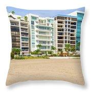 Playa De Chipipe In Salinas, Ecuador Throw Pillow
