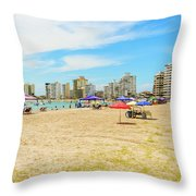 Playa De San Lorenzo In Salinas, Ecuador Throw Pillow