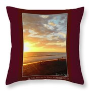 Playa Hermosa Puntarenas Costa Rica - Sunset A One Detail Two Vertical Poster Greeting Card Throw Pillow