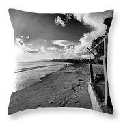 Playa Huequito Throw Pillow