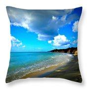 Playa Negra Throw Pillow