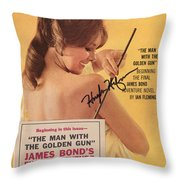 Playboy Magazine Poster Signed Throw Pillow