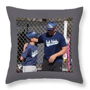 Player And Coach Throw Pillow