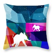 Playful Baby Elephant Throw Pillow