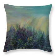 Playful Colorful Morning Throw Pillow