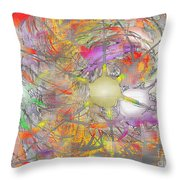 Playful Colors Of Energy Throw Pillow