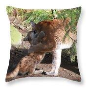 Playful Hugs Throw Pillow