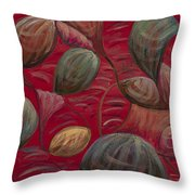 Playful In Red Throw Pillow