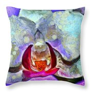 Playful Orchid Throw Pillow