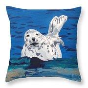 Playful Pup Throw Pillow