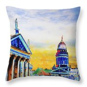 Playhouse And French Dome Throw Pillow