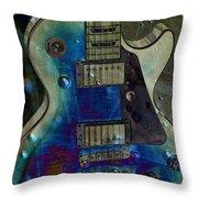 Playin The Blues Throw Pillow