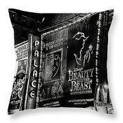 Playing At The Palace B / W Throw Pillow