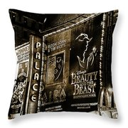 Playing At The Palace Tinted B / W Throw Pillow