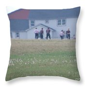 Playing Ball With Friends Throw Pillow