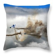 Playing Beneath The Clouds Throw Pillow
