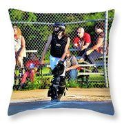 Playing Catch Throw Pillow