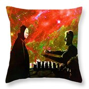 Playing Chess With Death Throw Pillow