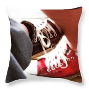 Playing Footsie Throw Pillow