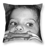 Playing Her Playdough Throw Pillow