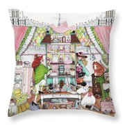 Playing House Throw Pillow