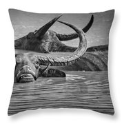Playing In The Pond Throw Pillow