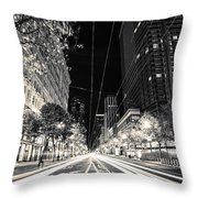 Playing In Traffic Blackout Throw Pillow