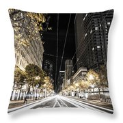 Playing In Traffic Throw Pillow