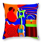 Playing Music Throw Pillow