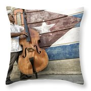Playing On The Street Throw Pillow