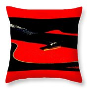 The Sigma In Red Throw Pillow