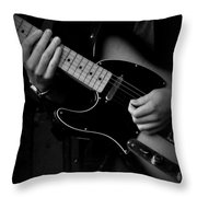 Playing Strings Throw Pillow