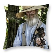 Playing The Fiddle Throw Pillow