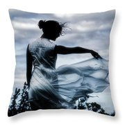 Playing With The Wind Throw Pillow