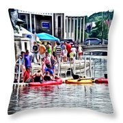 Playtime On The River Throw Pillow