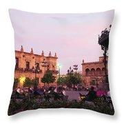 Plaza De Armas, Guadalajara, Mexico Throw Pillow