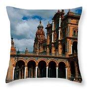 Plaza De Espana Throw Pillow