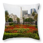 Plaza De Mayo In Buenos Aires-argentina  Throw Pillow