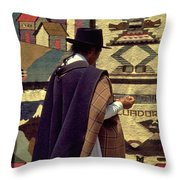 Plaza De Ponchos Throw Pillow