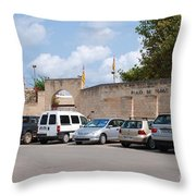 Plaza De Toros Bullring In Majorca Throw Pillow
