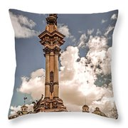 Plaza Grande Throw Pillow