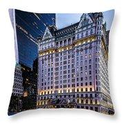 Plaza Hotel Throw Pillow