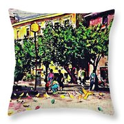Plaza In Murcia Throw Pillow