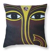 Pleasant Ganesha Throw Pillow