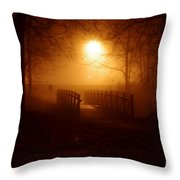 Pleasant Run Bridge Throw Pillow