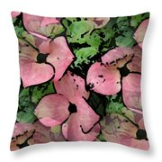 Pleasantly Pink Throw Pillow