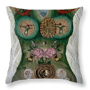Please Abide With Me Throw Pillow by Arla Patch