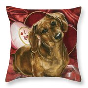 Please Be Mine Throw Pillow by Barbara Keith