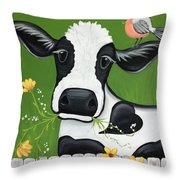 Please Don't Eat The Flowers Throw Pillow